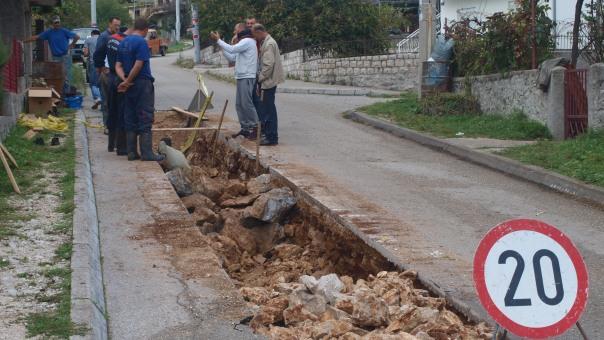 Bez vode visoke zone Hrupjela, Vinograda i Gorice