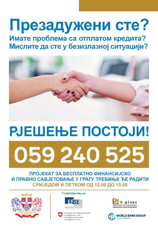 Besplatno savjetovanje za prezadužene građane