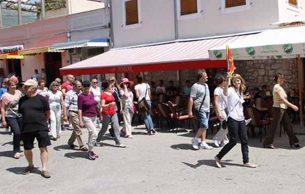 Sa turistima u Trebinju 2