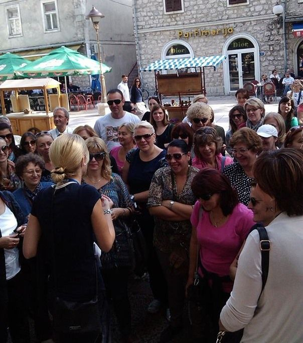 Sa turistima u Trebinju