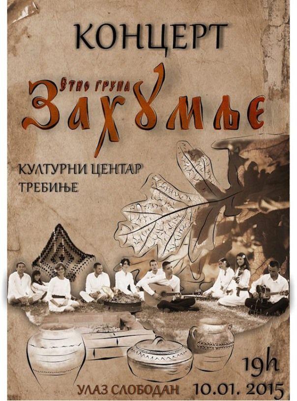 Najava: Koncert etno grupe Zahumlje