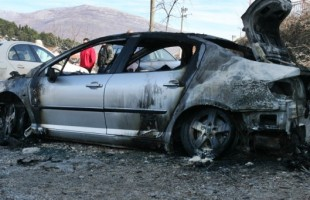 Izgorjelo vozilo, nema povrijeđenih
