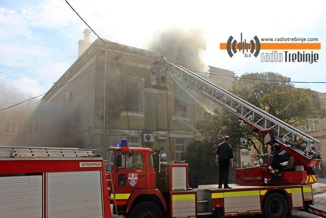 Zgrada Osnovnog suda u plamenu!