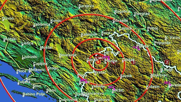 Novi zemljotres se osjetio u Trebinju