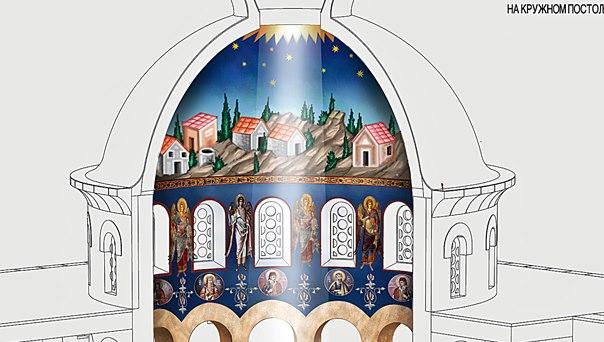 Ovako će izgledati oslikan Hram Hristovog Vaskresenja u Prebilovcima
