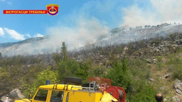 Пожар се шири у околини села Кочела