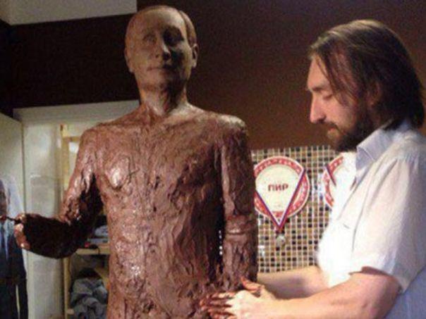Путин од чоколаде, за Гиниса