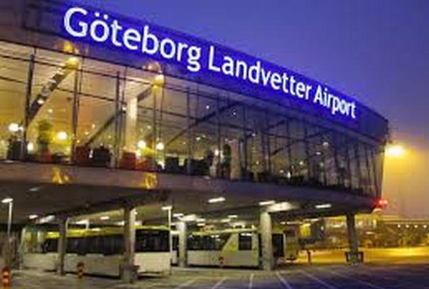 Евакуација аеродрома 'Ландветер' у Шведској