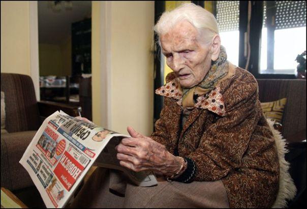 """Херцеговка из Зрењанина прославила 101. рођендан: Кафа, лоза, па """"Новости"""""""