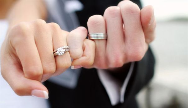 mladenci prsten