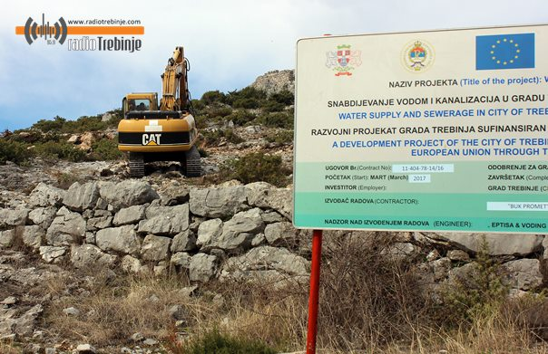 Сутра минирање стијена у Хрупјелима због радова на резервоару