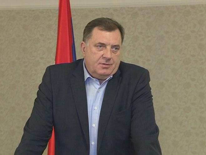 Додик са делегацијом Руске хуманитарне мисије