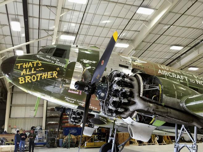 Пронађен и рестауриран авион који је предводио инвазију на Нормандију