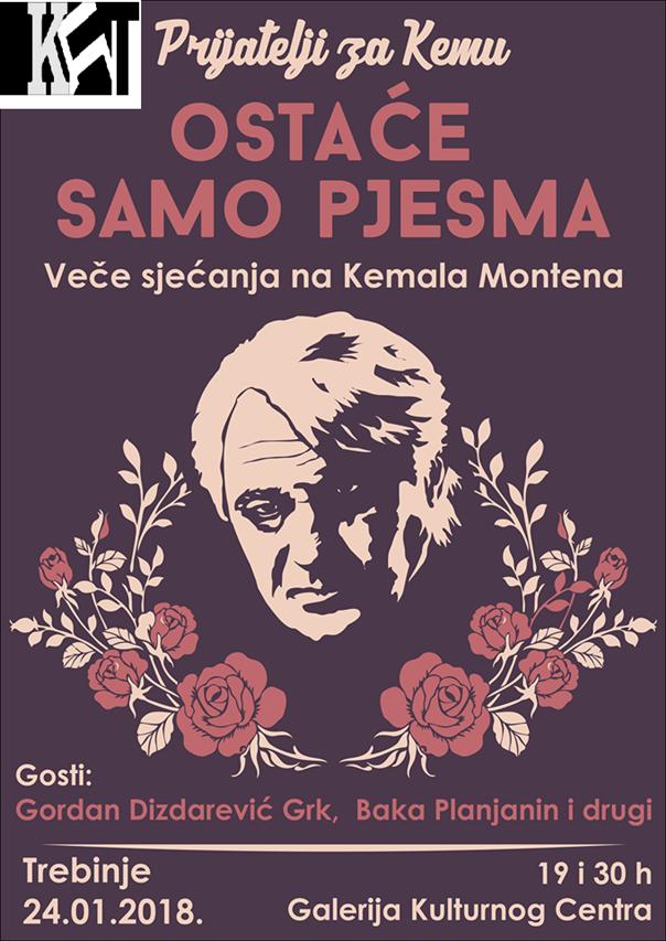 Trebinjsko veče sjećanja na Kemala Montena