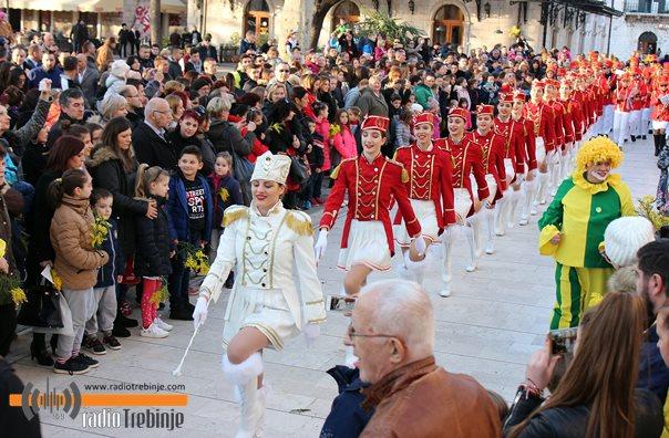 Караван мимозе на улицама Требиња (ФОТО)