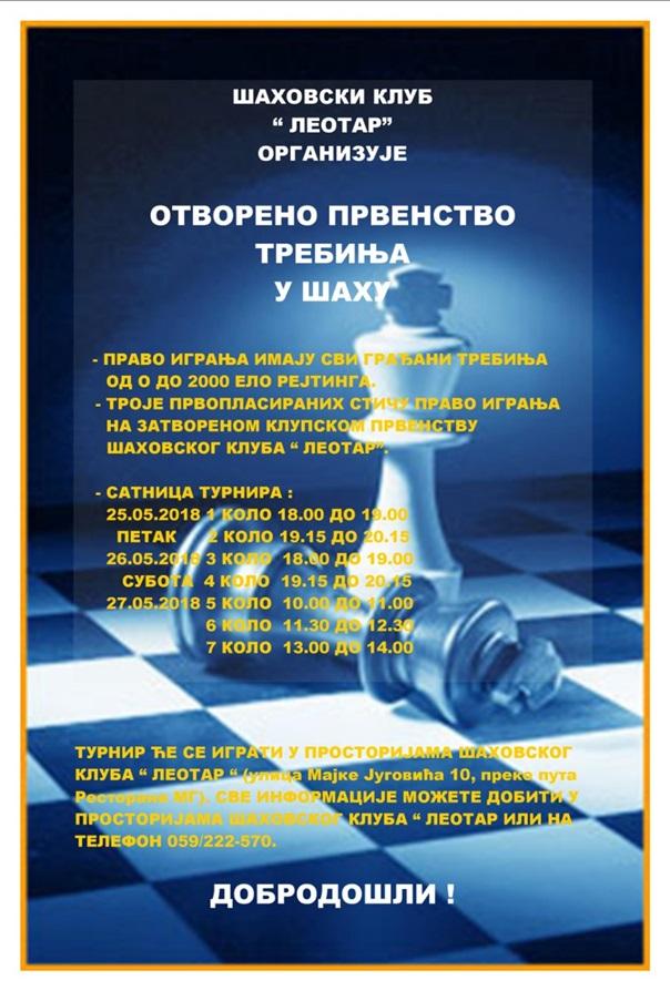 Најава: Отворено првенство Требиња у шаху