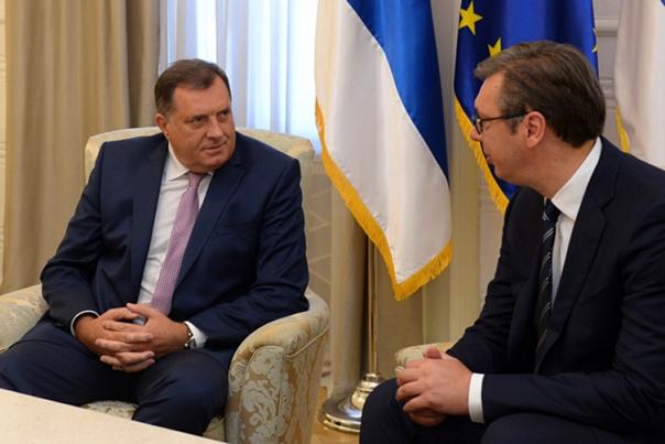 """Састанак Вучића и Додика: Србија неће дозволити нове """"олује"""""""