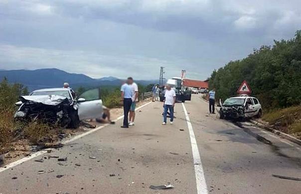 Три лица повријеђена у удесу на путу Требиње-Билећа