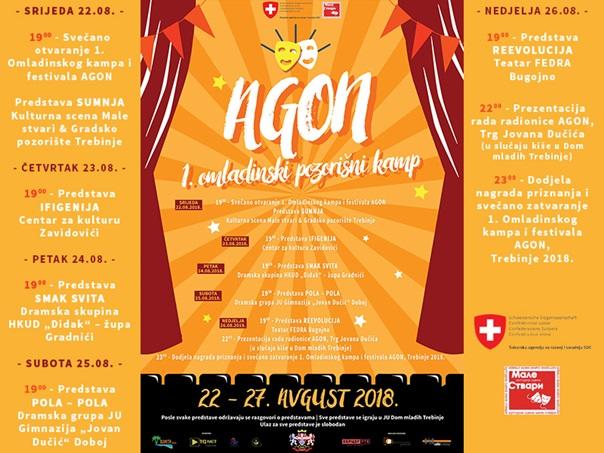"""Најава: Први омладински позоришни камп и фестивал """"Агон"""" у Требињу"""