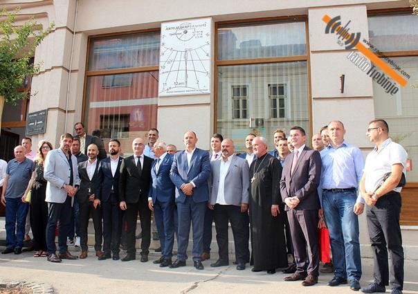 На згради Градске управе свечано откривен СУНЧАНИ ЧАСОВНИК