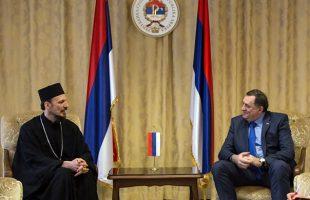 Dodik sa episkopom zahumsko-hercegovačkim i primorskim Dimitrijem