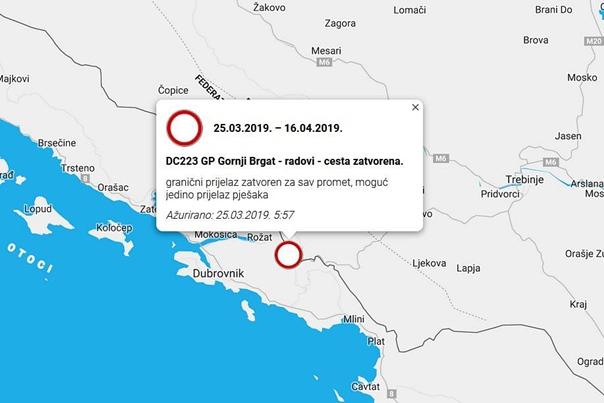 Do sredine aprila zatvoren granični prelaz Gornji Brgat