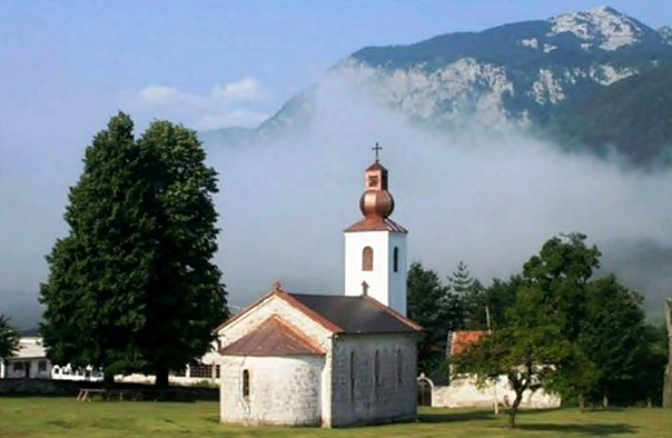 Коњиц: Освештање храма обновљеног у помен убијеним српским дјечацима