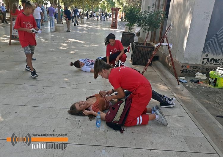 Volonteri Crvenog krsta održali pokaznu vježbu