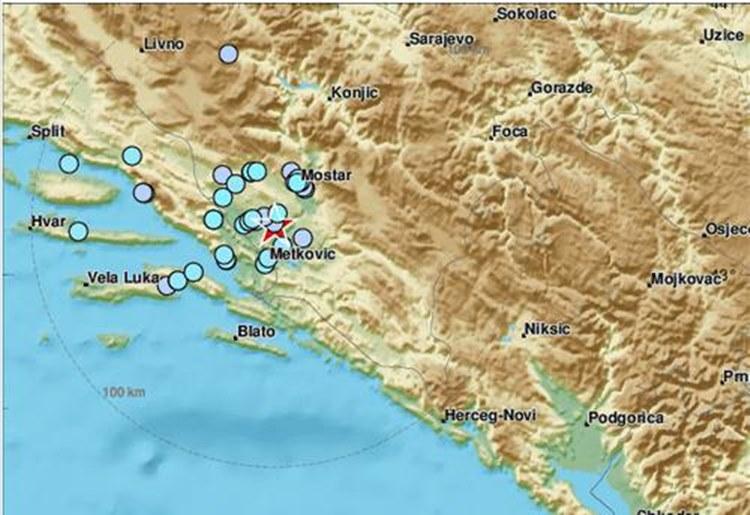 Поново земљотрес у БиХ