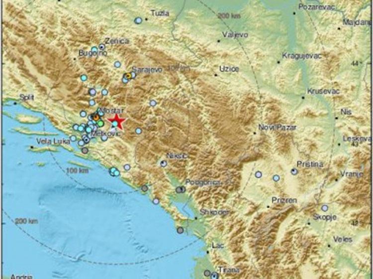 Поново земљотрес код Невесиња