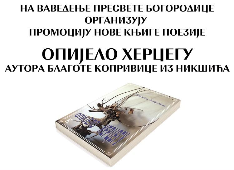 Народна библиотека: Вечерас промоција књиге
