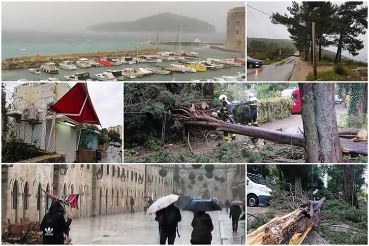 U Dubrovniku udari juga 143 kilometra na čas