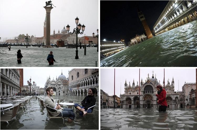 Uzbuna u Veneciji: Poplavljeno 70 odsto grada (FOTO)