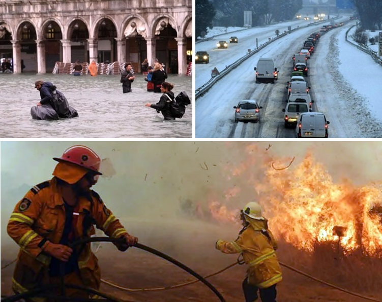 Vremenski ekstremi divljaju planetom: Sniježna oluja, potop, pakleni požari