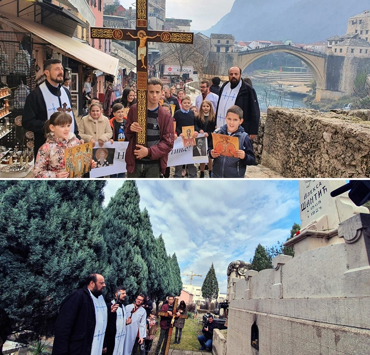 Мостар: Неколико стотина вјерника подржало браћу у Црној Гори