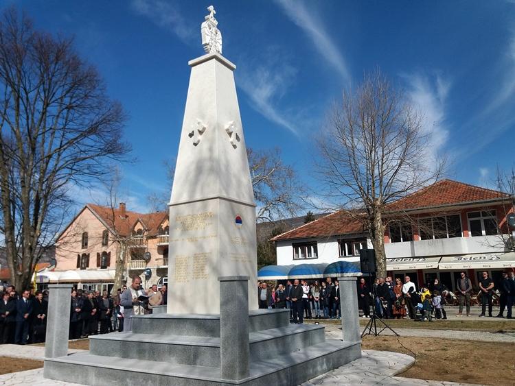 У Љубињу освештани спомен-соба и споменик погинулим борцима (ФОТО)