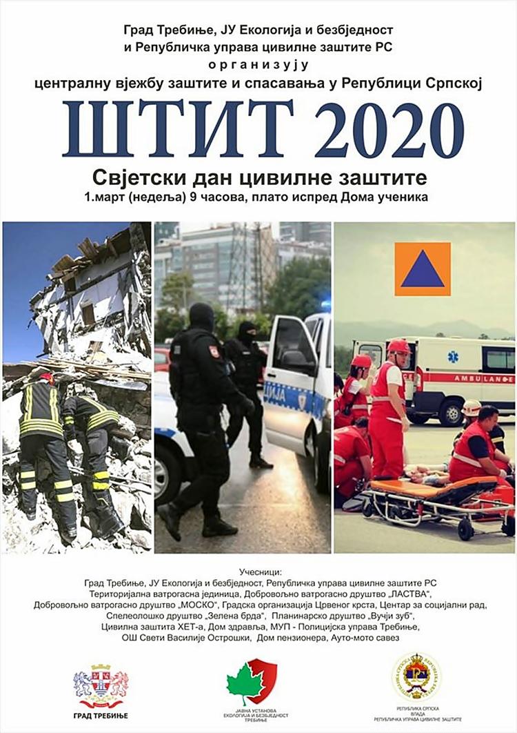 ШТИТ 2020: ДВЈЕСТО УЧЕСНИКА у заједничкој вјежби реаговања у случају земљотреса