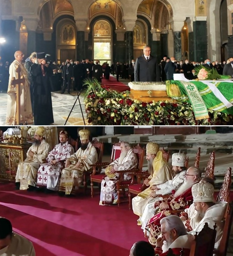Литургија за упокојеног патријарха Иринеја