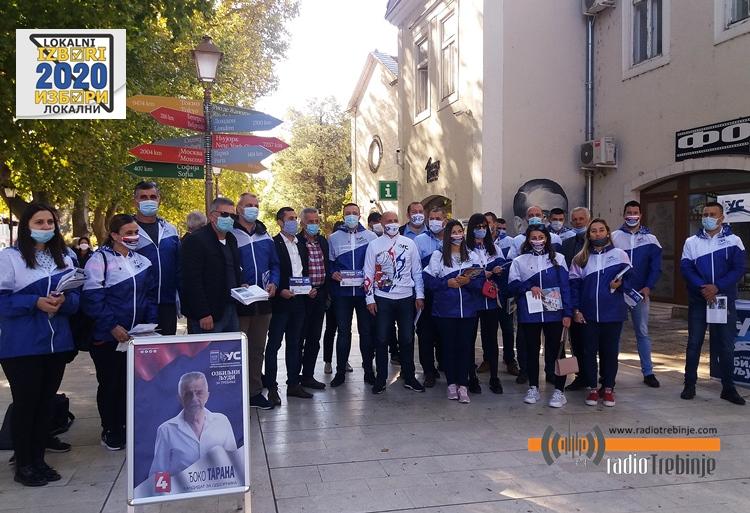 Уједињена Српска - Партија уједињених пензионера: Очекујемо најбољи изборни резултат у Требињу до сада